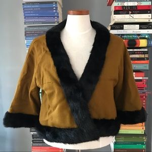 Mam'Selle by Betty Carol Vintage Fur Trimmed Coat